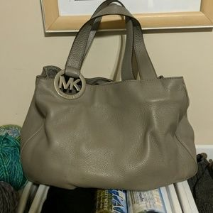 Michael Kors Grey and Silver Bag